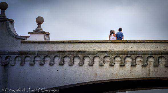 Niños en el puente, Torreón del Monje, Mar del Plata