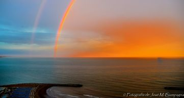 Arco iris en el mar