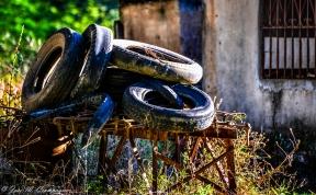 Trastos de gomas viejas