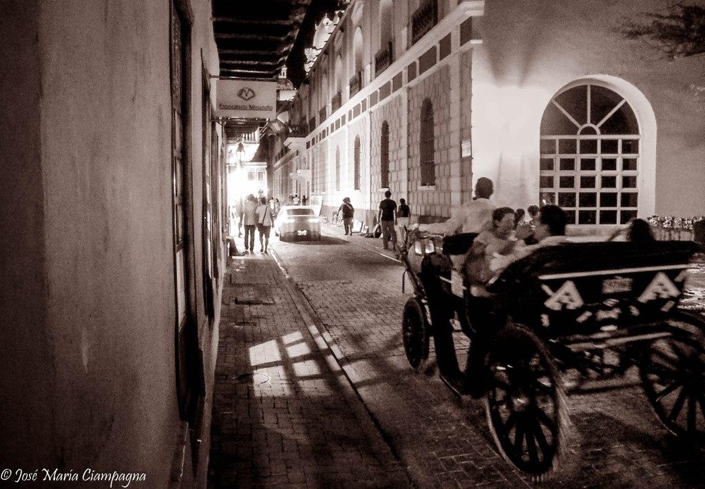 El paseo en mateo, Cartagena de Indias, Colombia