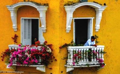 Mirando desde el balcón