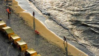 Llegaba la tarde a la playa de Boca Grande