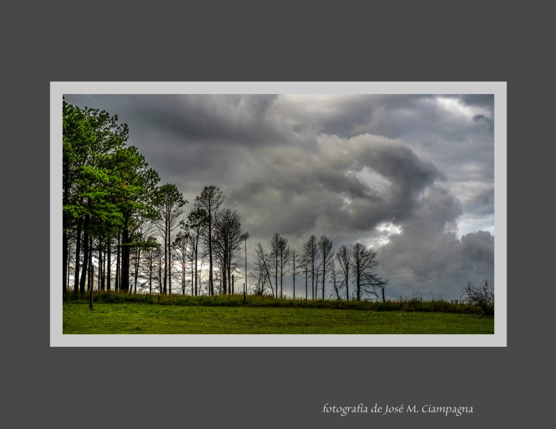 La tormenta desde Villa Risteau
