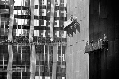 Limpia vidrios en NYC