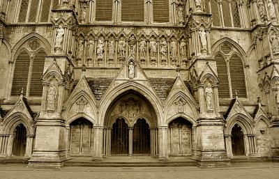 Lateral Catedral de Salisbury, Inglaterra