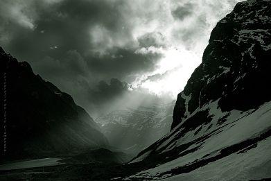 Cruce de la Cordillera de los Andes