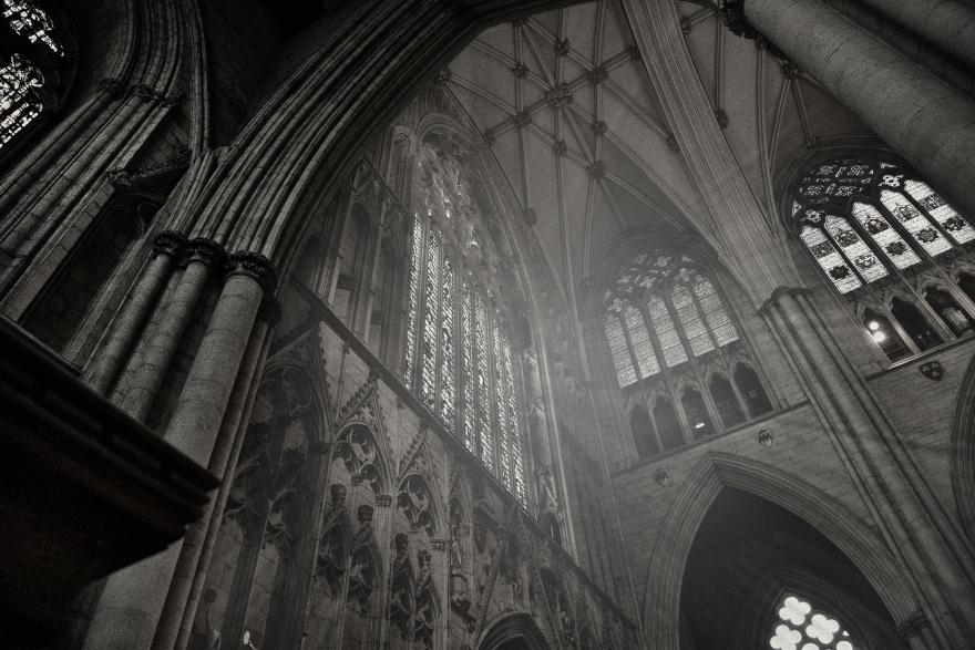 Luces de la catedral de Stratford, England
