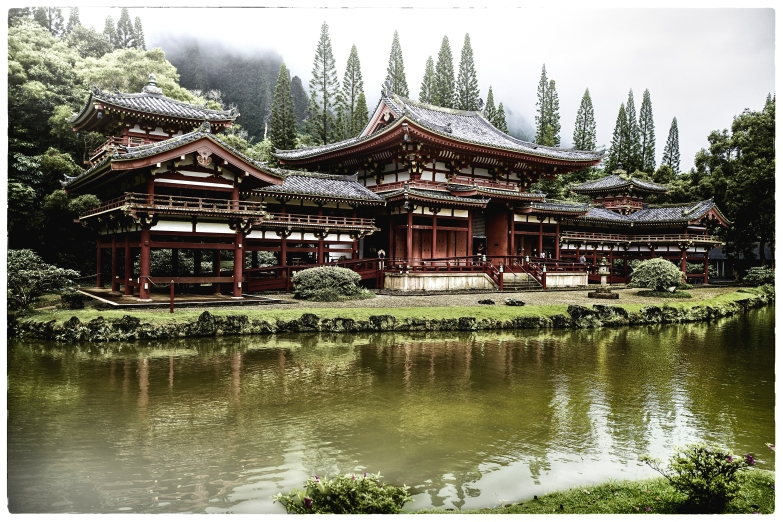 The Byodo-In Temple Valley of the Temples Memorial Park Kahaluu, O'ahu, Hawaii