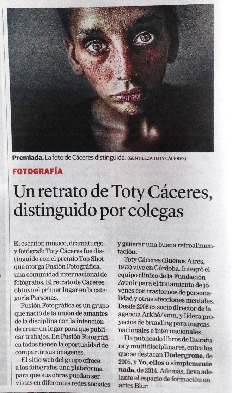 Premio a Toty Cáceres