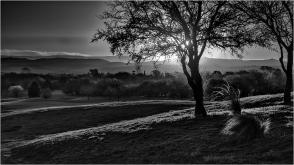 Luces y sombras del atardecer del Valle del Golf