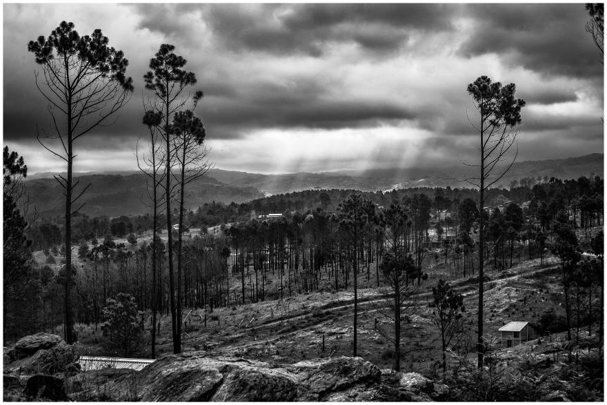 Tormenta sobre las sierras de Yacanto. Valle de Calamuchita. Córdoba. Argentina