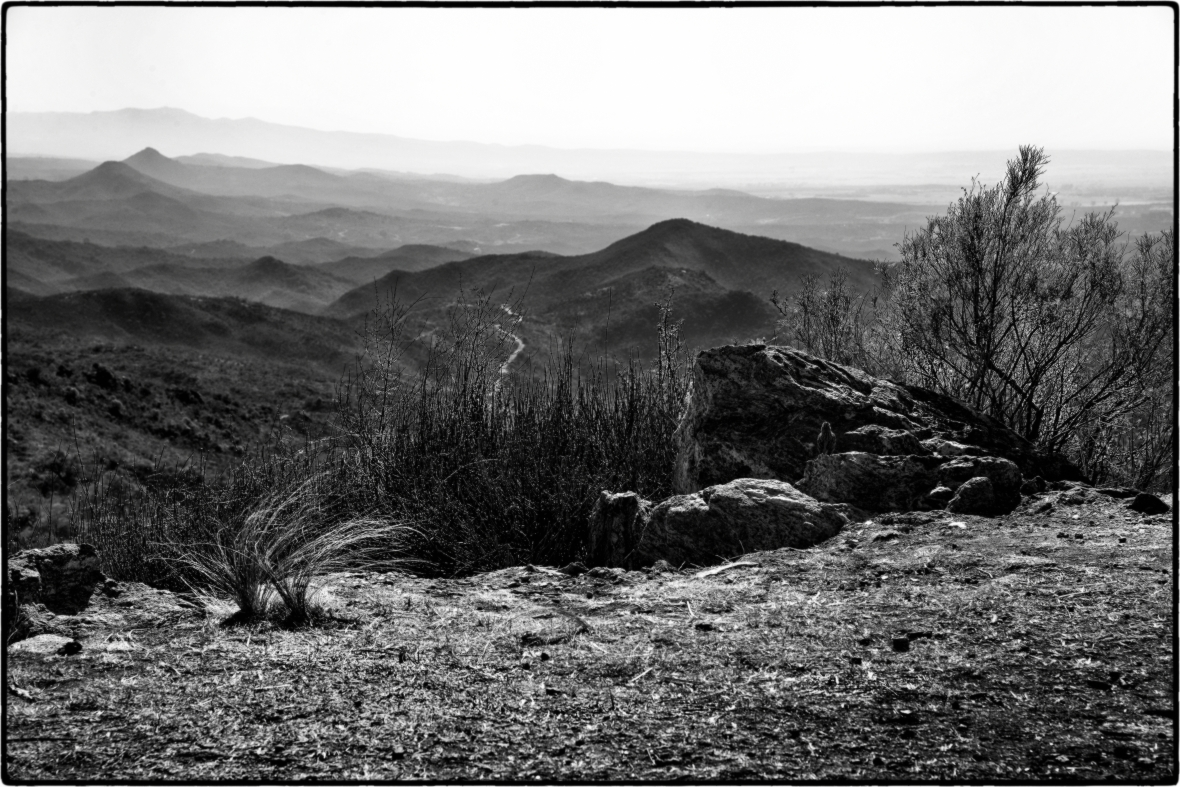 Paisaje desde Altas Cumbres. Vista al Valle de Punilla. Córdoba. Argentina