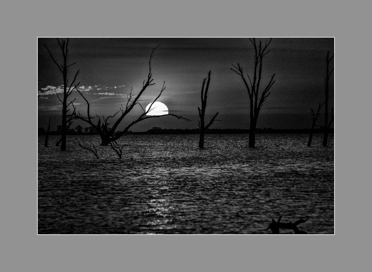 Cae la noche en el mar de Ansenuza