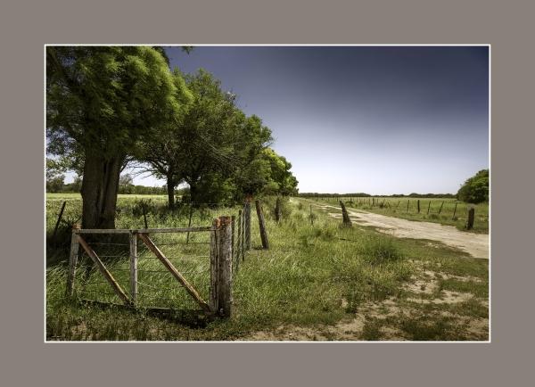 La tranquera del medio. Ea. San Teodoro, zona rural de Río Primero, Córdoba.