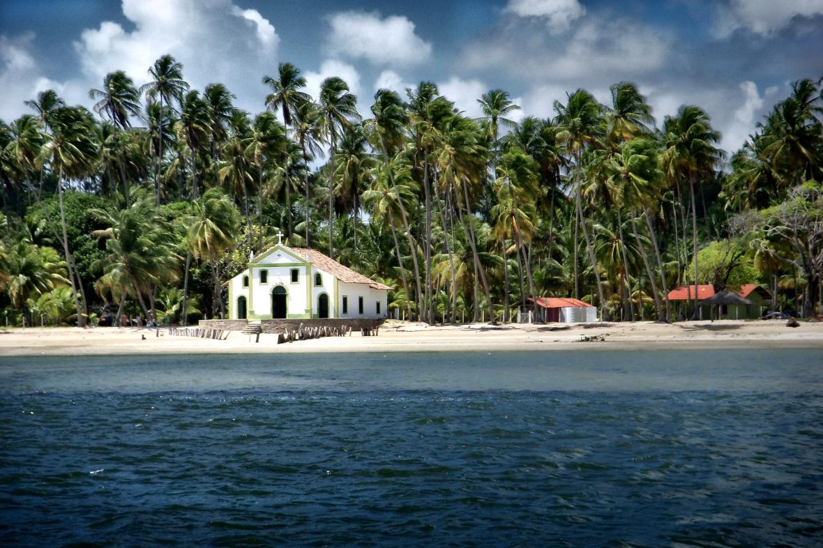 Playa Dos Carneiros en Tamandaré, Pernambuco, Brasil.