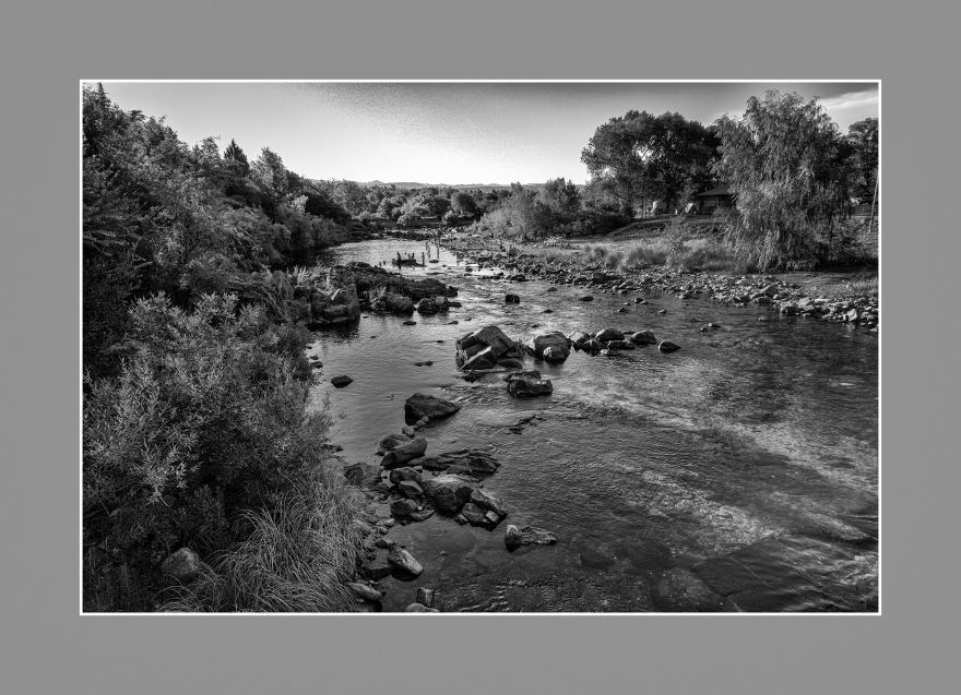 Paisaje de río serrano. Valle de Calamuchita, Córdoba, Argentina. Enero 2017.