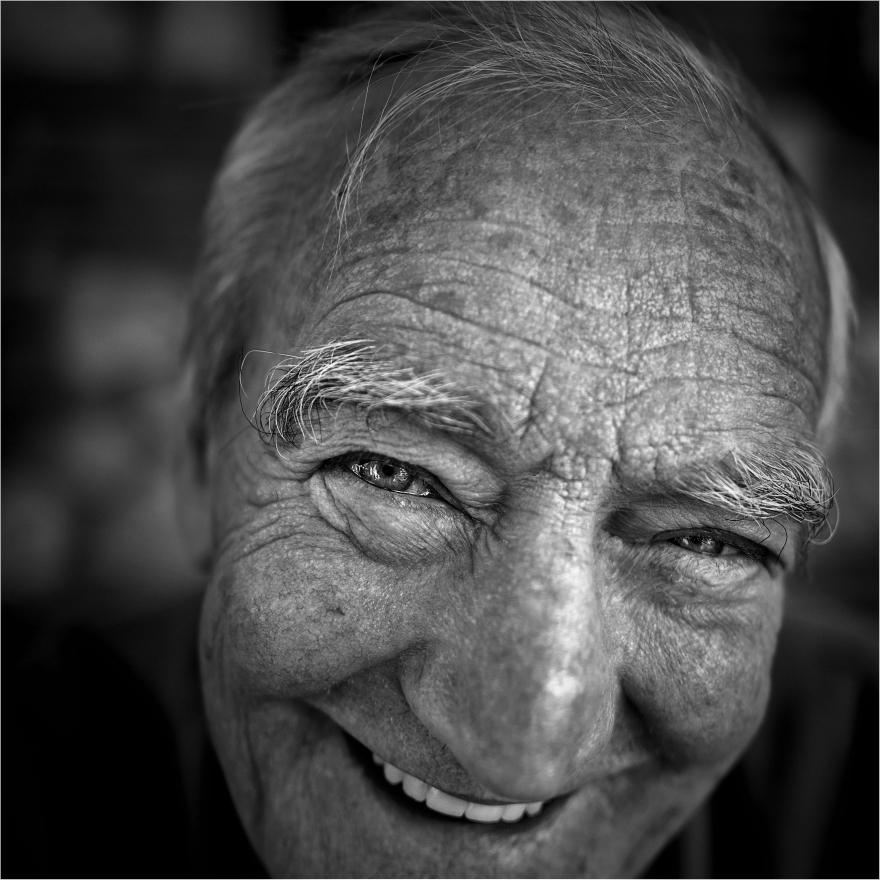 "Retrato: ""La sonrisa de Don Esteban"", Las iba, Argentina. Agosto 2017"