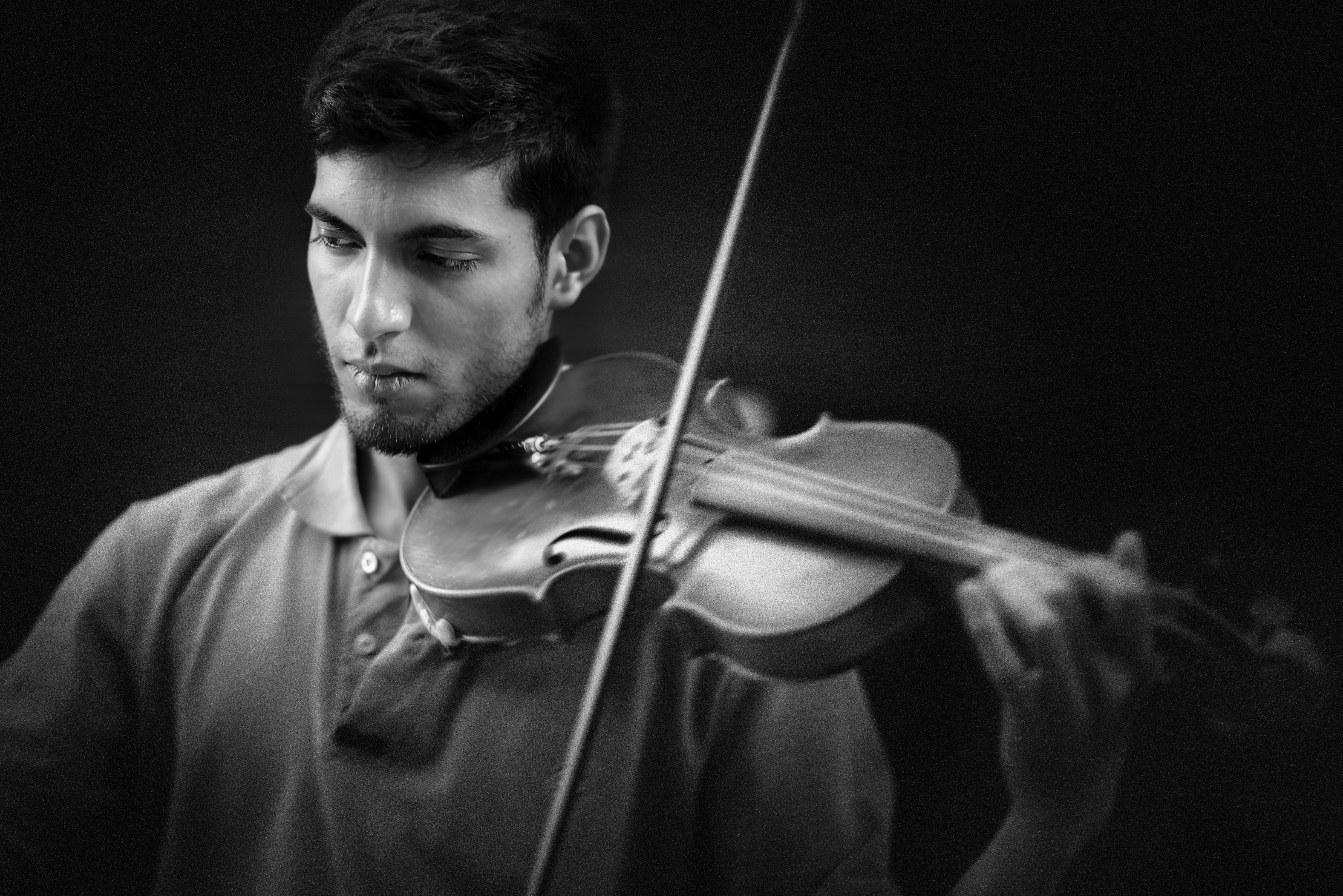 """Violinista callejero"", Calles de Córdoba. Argentina"