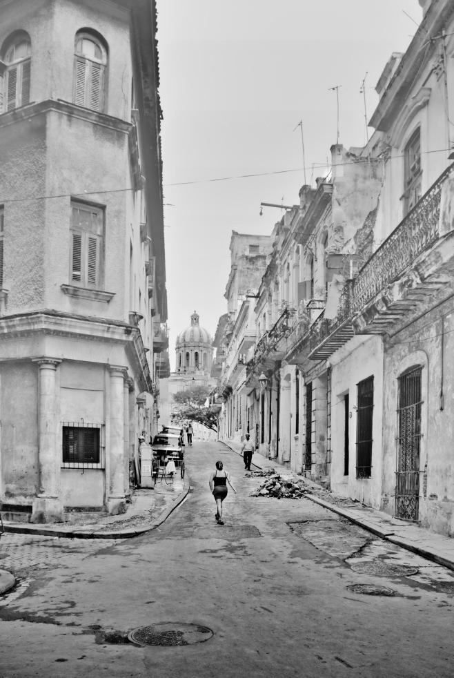 Caminando en las calles de la Havanna