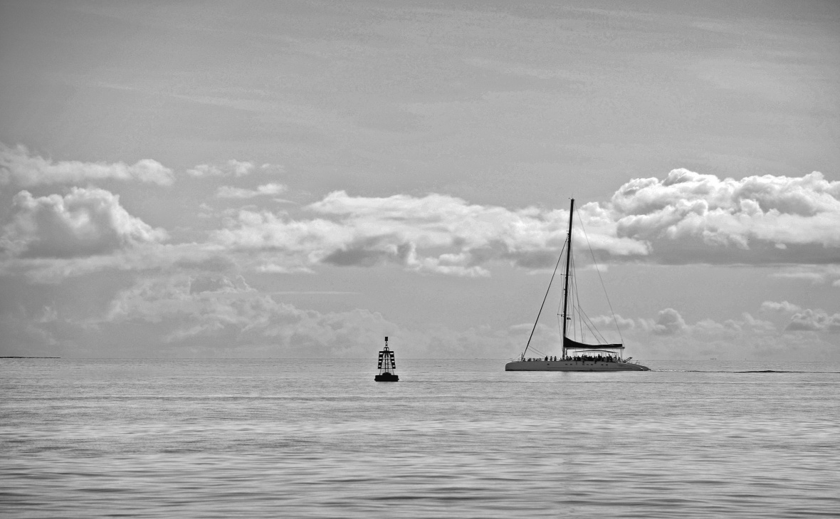 El Catamaran en el mar Caribe