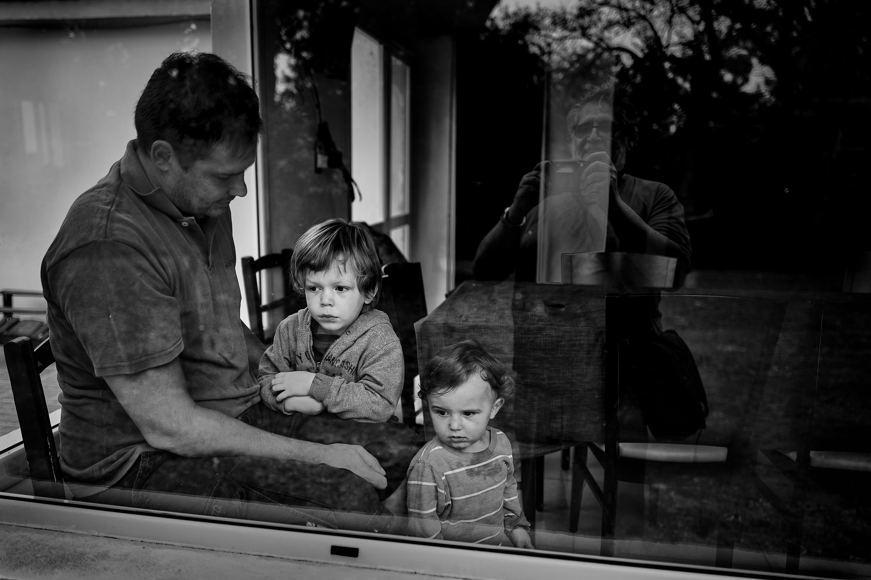 Guille, Emilio, Martín y el abuelo (fotógrafo)