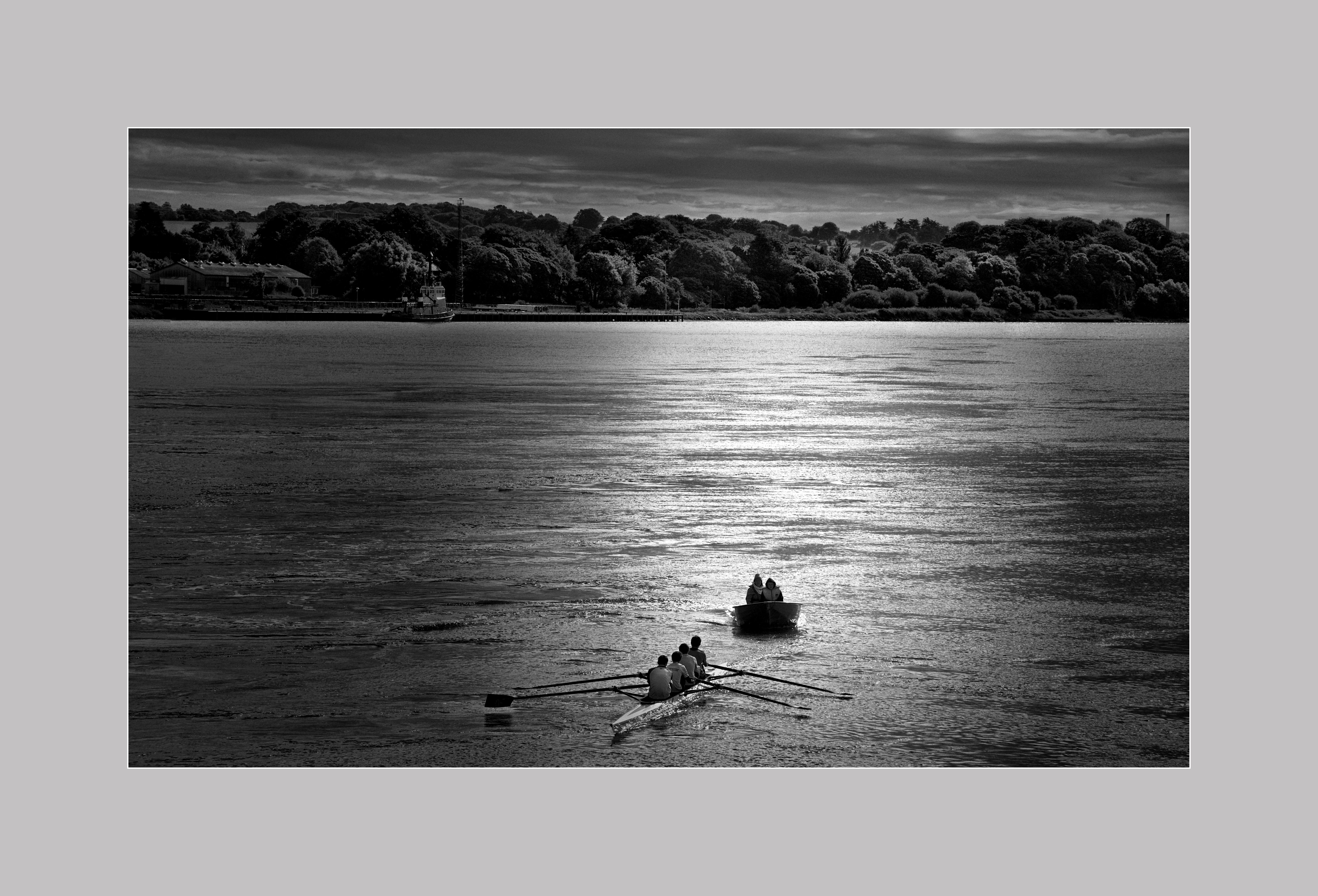 Cruzando el río Barrow, Waterford, Irlanda