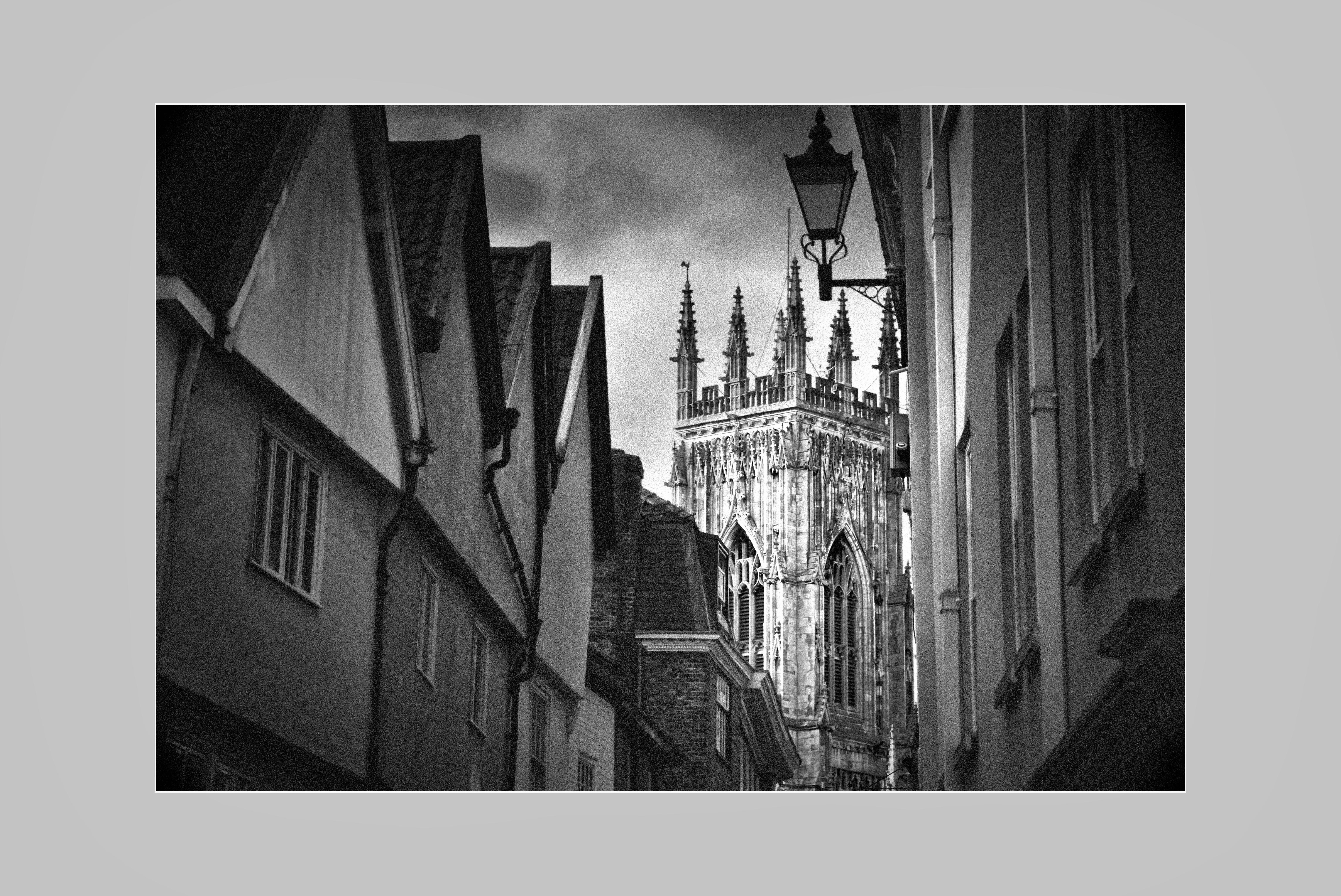 La Catedral de Stratford Blanco y negro